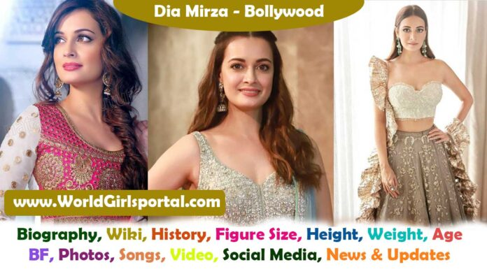 Dia Mirza Biography, History, Hot Pics Collection, Age, Height, Bra Size, BF, Latest News Bollywood Sexy Actress