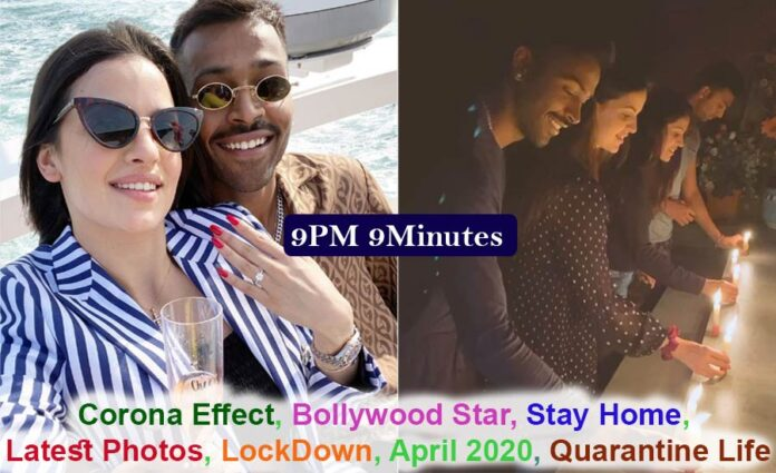 Hardik Pandya Light candle with fiance Natasha, posted this video, 9pm 9minutes Call PM, Bollywood Live News
