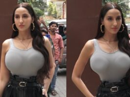 Live Nora Fatehi TIGHT Hot dress Spotted Outside T-Series Office INDIA | Bollywood Sexy Actress News