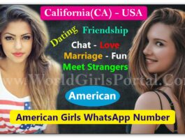 California Girls WhatsApp Number List | USA Women | American Girls Mobile Number for Dating