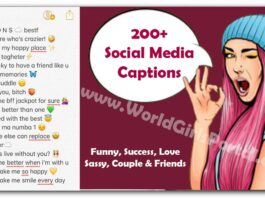 200 Amazing Text Captions For to Use on WhatsApp, Instagram of Yourself (2020)