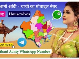 Rajasthani Aunty WhatsApp Number For Friendship - Dating - Chatting