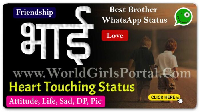 Best Brother WhatsApp Status, Quotes Images 2 Line Status For Brother - World Status Portal