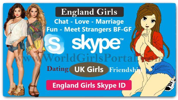 England Girls Skype ID for Online Friendship Best UK Matrimonial Site/Apps - World Fun Club