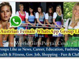 Austrian Female WhatsApp Group Link for Jobs - Life Partner - Business IDEA - World Austria Girls Social Media Portal