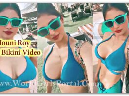 Mouni Roy Blue Bikini Video: Seeing this hot video of Mouni Roy, Arjun Bijlani also slipped, commented and expressed love - Bollywood News