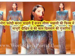 Nora Fatehi wants to work in Sanjay Leela Bhansali's film, requesting Madhuri Dixit to get it done - World Bollywood Portal