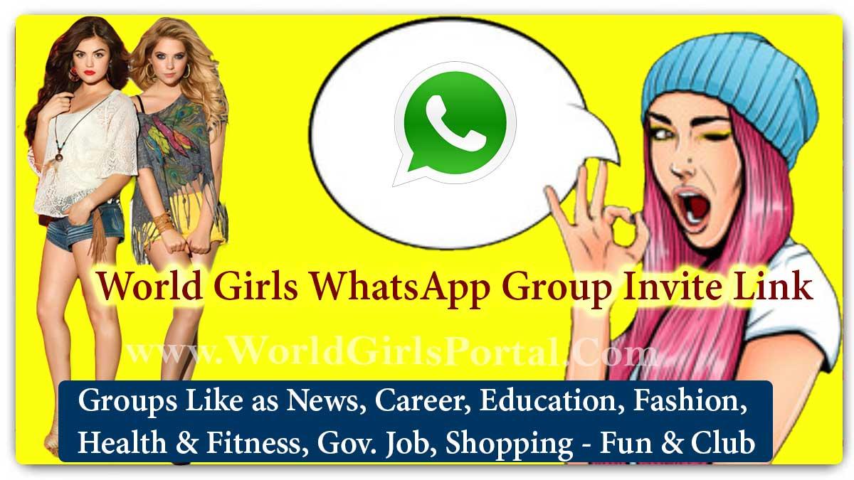 World Girls WhatsApp Group Invite Link for Entertainment, Fun & Enjoy, Time pass - World WhatsApp Portal