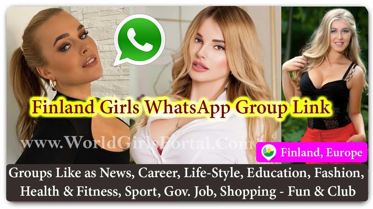 Finland Girls WhatsApp Group Link for Jobs - Life Partner - Chat - Business IDEA - World European Girls Portal #Finnish Matrimonial Groups