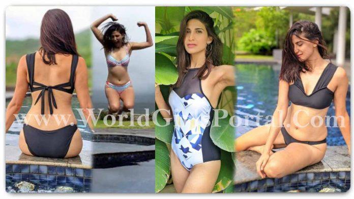 Aahana Kumra Monsoons Enjoying in Water Bath: Indian Actress #AahanaKumra Black Bikini - Splish. Splash. Slurrpp - Hot Looking