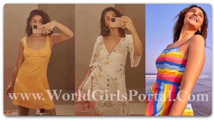 Alia Bhatt Dress Style From Bright Minis To Printed Maxis - Bollywood Actress #AliaBhatt Summer Dresses Complete The Sunny Season