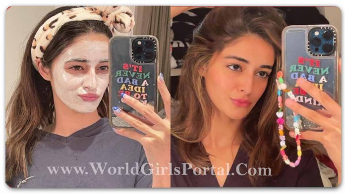Ananya Panday Swelter Picks Hair Color Style: #AnanyaPanday Self-care weekends begin with Skin face pack and sit and relax