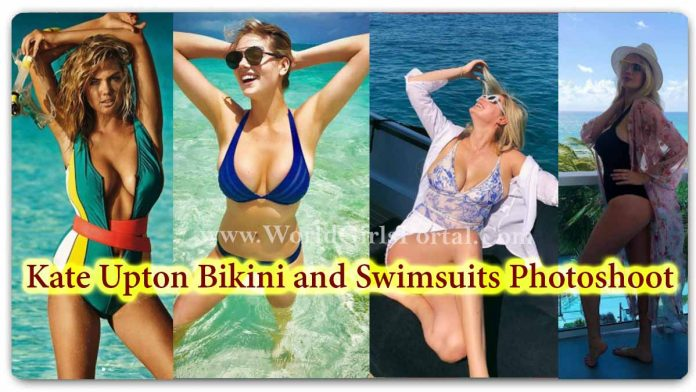 Kate Upton Bikini and Swimsuits Photoshoot: American Model #KateUpton Bold Pictures - Hollywood Model Sea Beach Poses Look