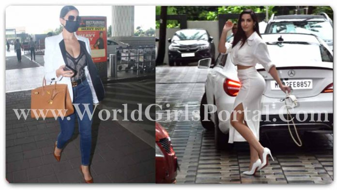 Nora Fatehi White Outfit: #NoraFatehi Her Rs 5.6 Lakh Chanel Handbag, Nora cropped shirt and a thigh-high slit skirt Fashion Life Style