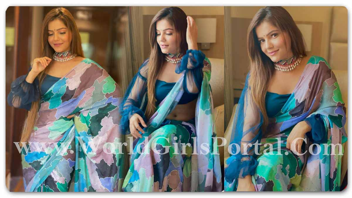 Rubina Dilaik Blouse and Neckpiece, Blue Saree with Necklace Looking Gorgeous: Indian TV Actress Fashion News Portal - HD Wallpaper