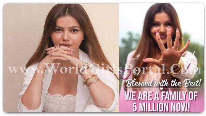 Rubina Dilaik Completed 5 million followers on Instagram, shared the good news on social media #RubinaDilaik Instagram News