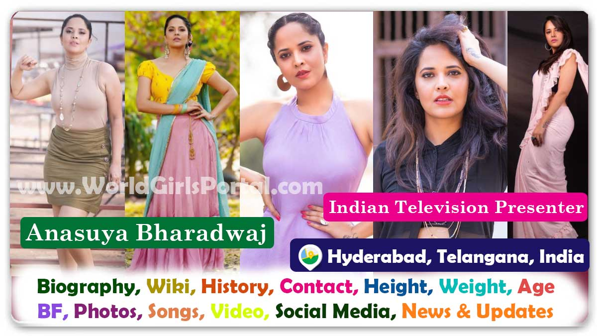 Anasuya Bharadwaj Biography Wiki Contact Details Indian Television Presenter WhatsApp Number, Life Style, Personal Info, South Indian Actress Biography Portal