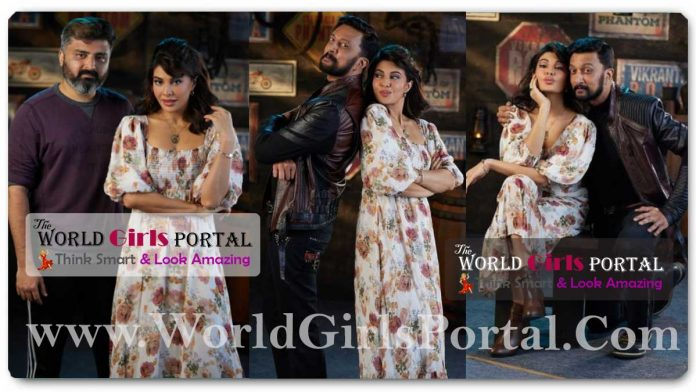 Jacqueline Fernandez shoots for a song with Kiccha Sudeep completes shooting for Kannada debut film Vikrant Rona, See Pics