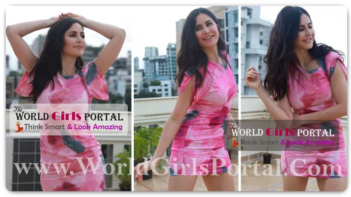 Katrina Kaif Pink Tie-Dye Mini Dress: Katrina Kaif in Rs. 31k mini dress nails the casually chic look in latest video 'Cover me in 🌞'