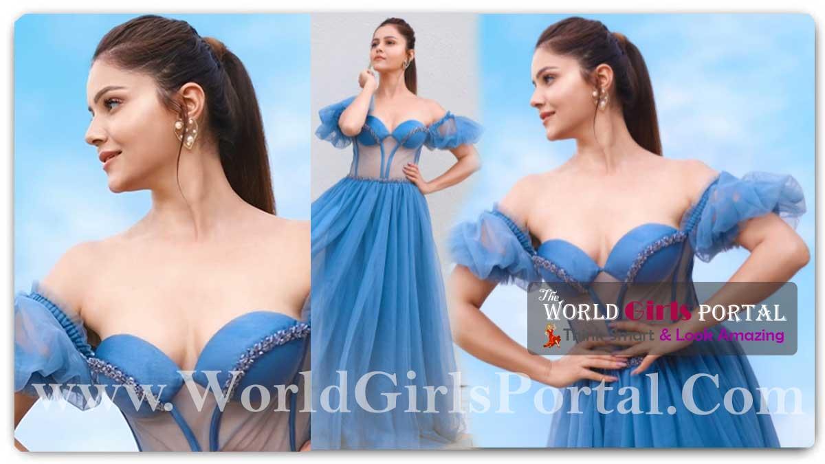 Rubina Dilaik Blue Strapless Corset Gown: 'Bigg Boss 14' winner Rubina Dilaik flaunts sexy hourglass figure in princess cut gown, see photos