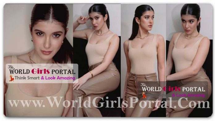 Shanaya Kapoor Oozes Glamour in Nude Chic Outfit: #ShanayaKapoor raises oomph factor in nude bralette and faux brown leather pants