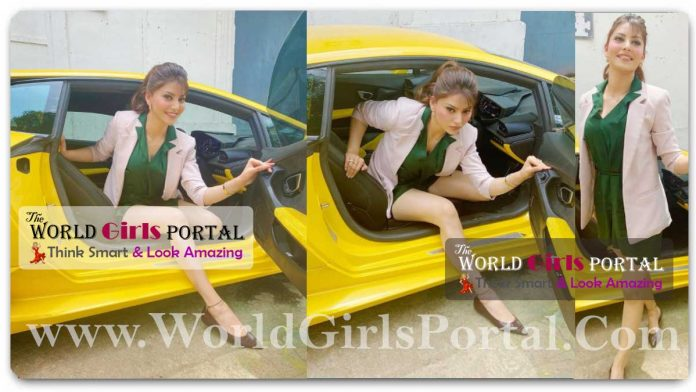 Urvashi Rautela struggles to get out of her 'bae Lamborghini' due to 'tall girl problems', fans call her 'barbie' #UrvashiRautela