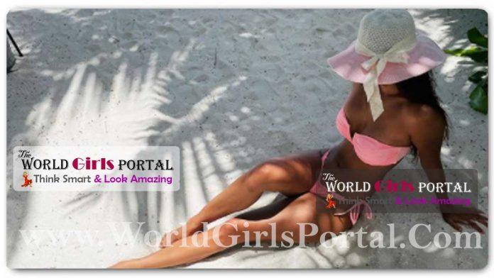 Disha Patani Pink Bikini with Cape at Beach: #DishaPatani chills at the beach in pink bikini and matching hat. Seen yet? Bollywood News Portal