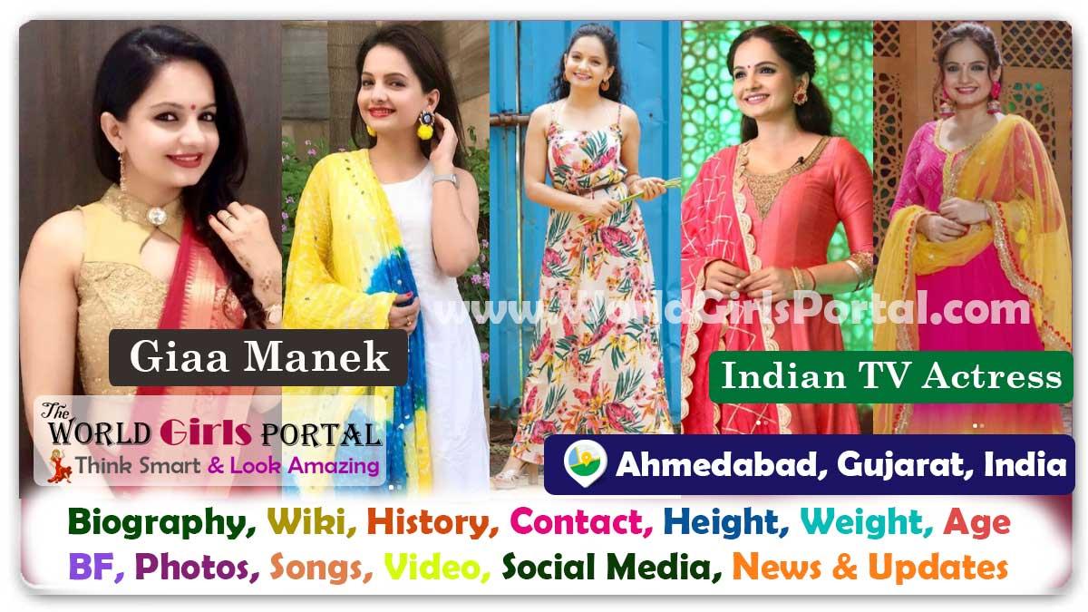 Giaa Manek Biography Wiki Contact Details WhatsApp Number Photos Video BF Career Location Ahmedabad Indian TV Actress Bio-Data