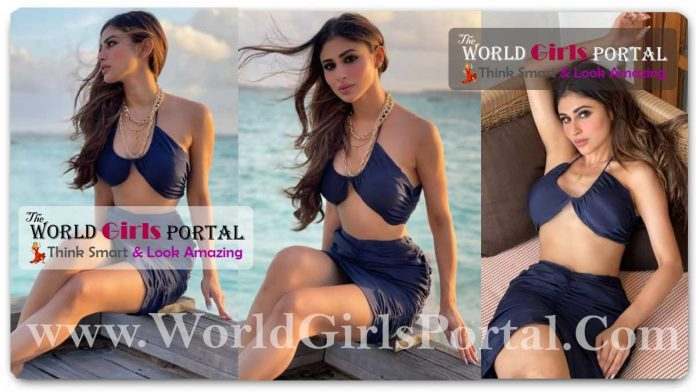 Mouni Roy in bralette and bodycon skirt proves she can slay any style in pics from Maldives - Indian TV Actress Mouni Roy Fashion News