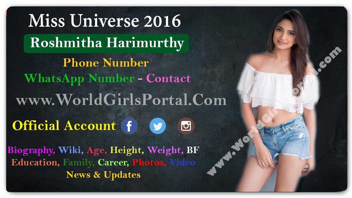 Roshmitha Harimurthy Contact Details Karnataka Model Girl WhatsApp Number for Paid Promotion Social Media, Office Address, Email, Biography