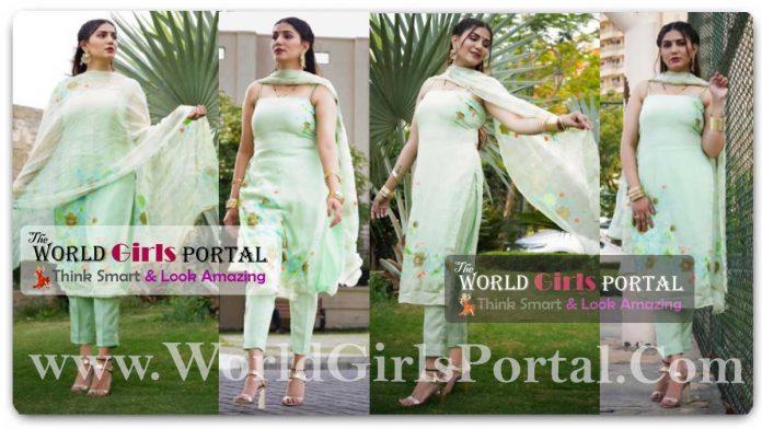 Sapna Choudhary Sleeveless Indian Green Dress: #SapnaChoudhary shares very glamorous pictures, beauty will blow the senses