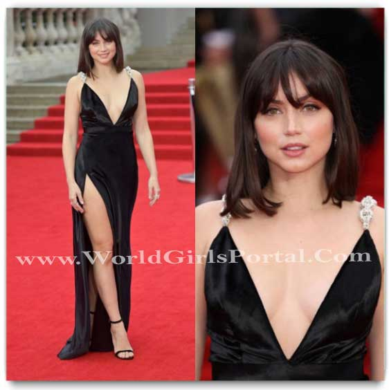 Ana de Armas gives a bold touch to her basic black gown and we're loving every bit of it