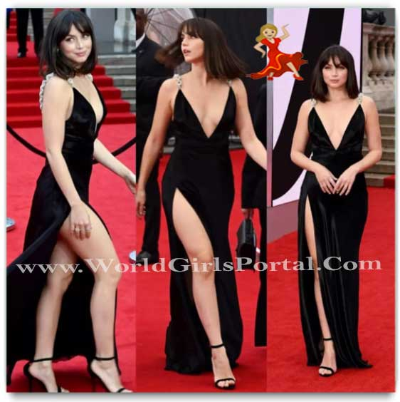 """Bond Girl Ana De Armas Has """"No Time To Die"""" As She Is Busy Leaving Us Stunned In A Bold Black Gown"""