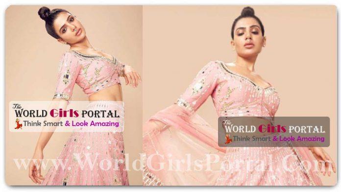 Samantha Ruth Prabhu Pink Lehenga #SamanthaRuth Would Make The Prettiest Bridesmaid In Her Pretty Pastel Pink Lehenga