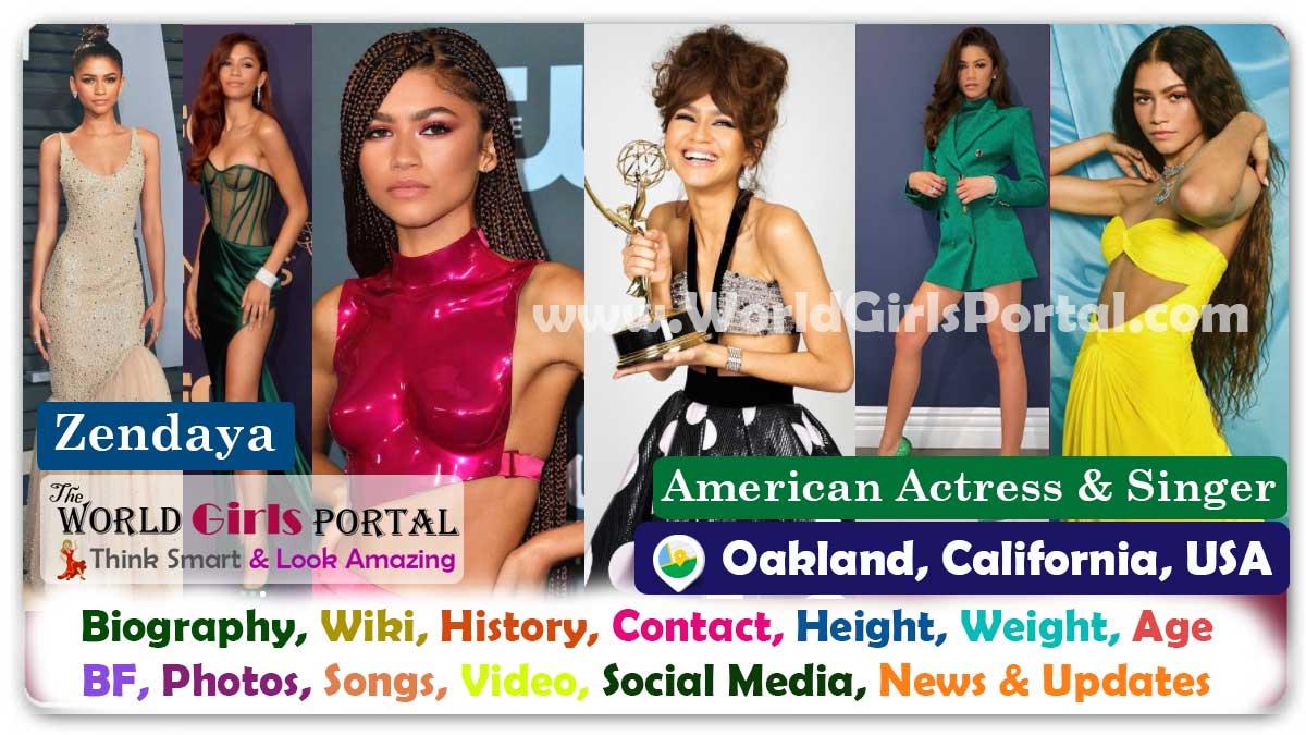 Zendaya Maree Stoermer Coleman Biography Wiki Contact Details Photos Video BF Career Life Style Location Email ID Social Media American Actress Bio-Data