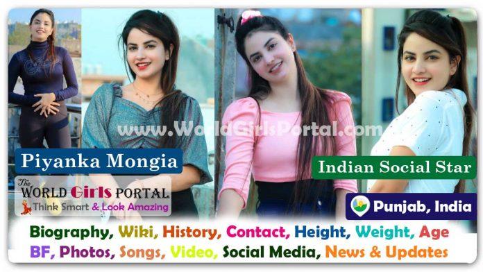 Piyanka Mongia Biography Wiki Indian Social Star Contact Details Photos Video BF Career Phone Number Email ID Social Media Location Bio-Data TikTok Model