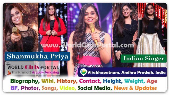 Shanmukha Priya Biography Wiki Indian Singer Contact Details Photos Video BF Career Phone Number Email ID Social Media Location Bio-Data