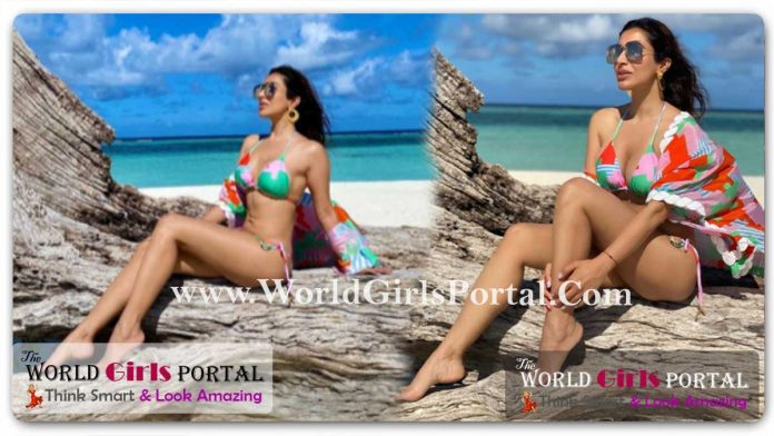 Sophie Choudry Sexy Bikini Look at Maldives: #SophieChoudry has been holidaying in the Maldives for almost a week